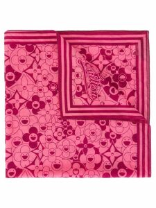 Louis Vuitton Pre-Owned floral logo scarf - Pink