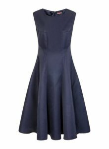 Womens *Chi Chi London Navy Midi Skater Dress, Navy