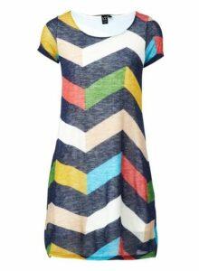 Womens *Izabel London Multi Colour Grid Print Shift Dress- Multi Colour, Multi Colour