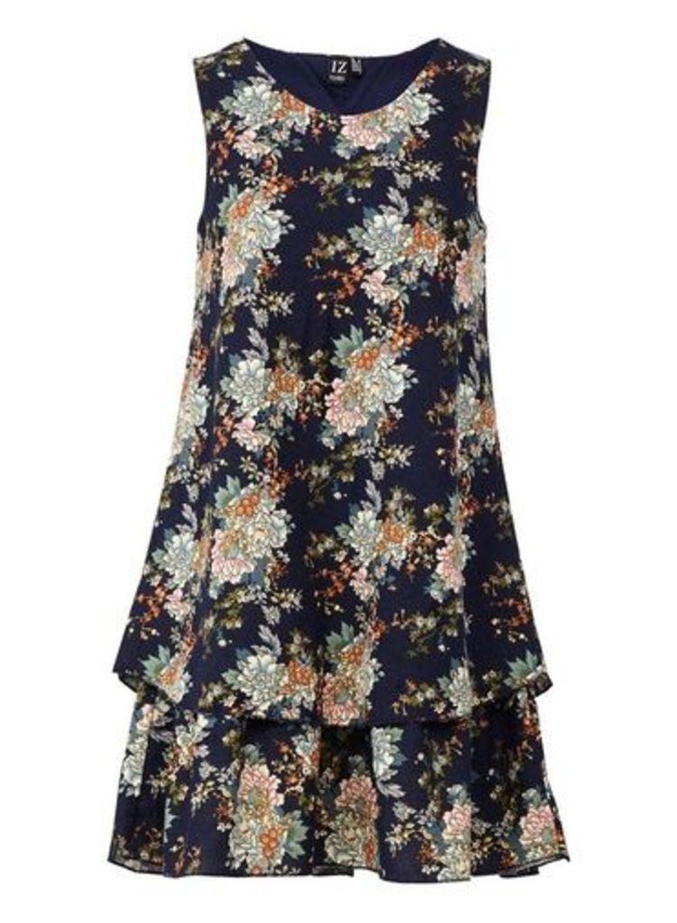 Womens *Izabel London Multi Colour Layered Hem Swing Dress- Multi Colour, Multi Colour