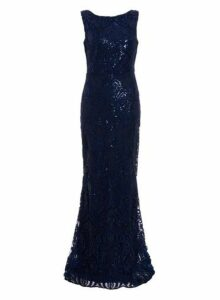Womens *Quiz Blue Sleeveless Maxi Dress- Blue, Blue