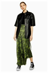 Womens **Alligator Bias Skirt By Boutique - Green, Green