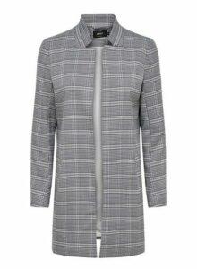 Womens **Only Grey Longline Rib Textured Jacket, Grey