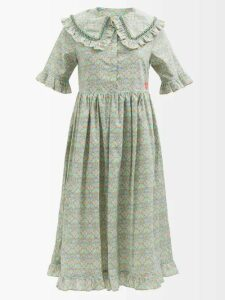 Zimmermann - Ninety Six Floral Printed Linen Skirt - Womens - White Print