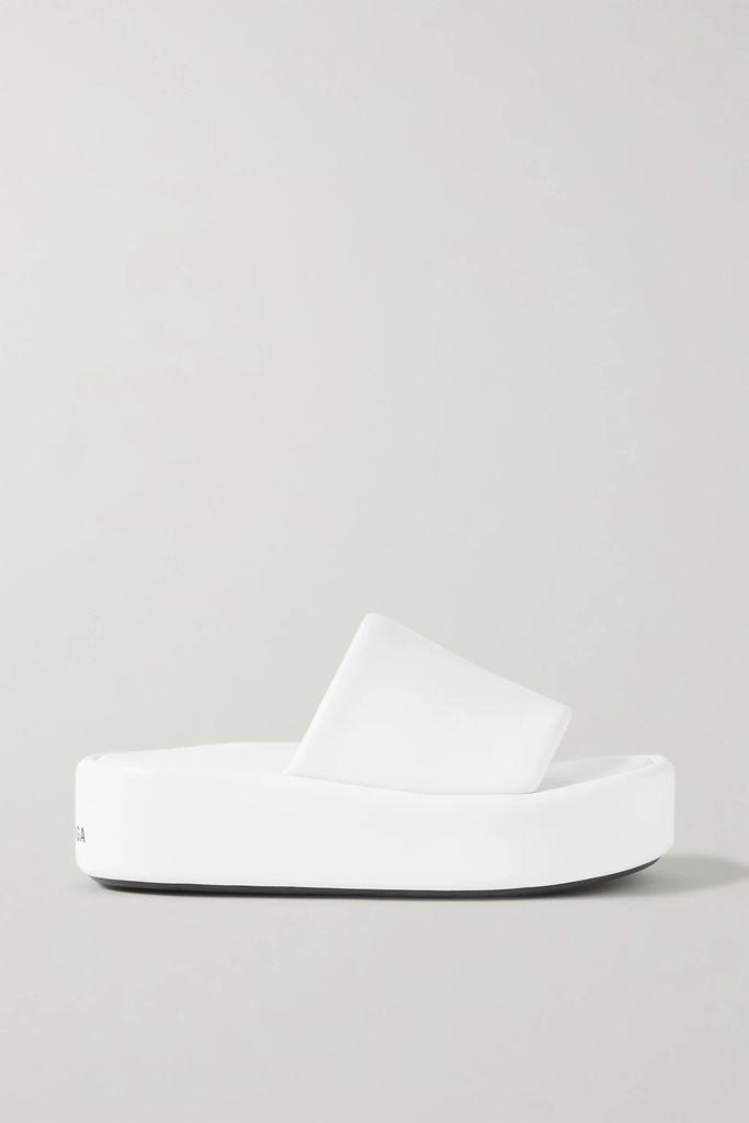 Nicholas - Belted Shirred Polka-dot Cotton And Silk-blend Midi Skirt - Lavender