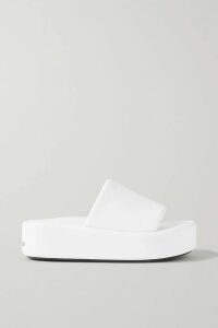 Nicholas - Belted Shirred Polka-dot Cotton And Silk-blend Midi Skirt - Lavender