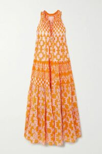 rag & bone - Clyde Distressed Denim Midi Skirt - Mid denim