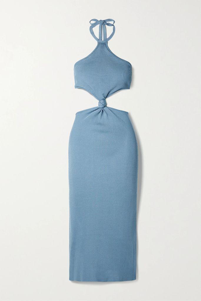 Faithfull The Brand - Racquel Polka-dot Crepe Midi Skirt - Green