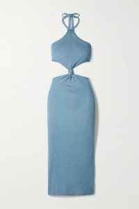 Faithfull The Brand - Racquel Polka-dot Crepe Midi Skirt - Green
