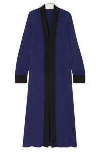 Haider Ackermann - Two-tone Silk-trimmed Satin Dress - Blue