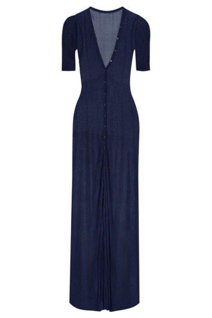 Jacquemus - Dolcedo Stretch-knit Maxi Dress - Navy