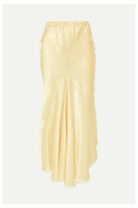 Ann Demeulemeester - Silk-satin Midi Skirt - Gold