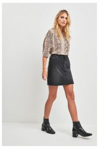 Womens F&F Black Denim Skirt -  Black