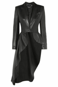 Alexander McQueen - Asymmetric Leather Blazer - Black