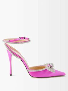 Fendi - Logo-print Asymmetric Pleated Cotton Midi Skirt - Womens - Blue Multi