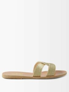 Giuliva Heritage Collection - The Stella Double Breasted Wool Blend Blazer - Womens - Beige