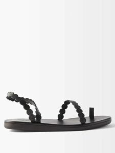 Giuliva Heritage Collection - The Rose Double Breasted Linen Chambray Coat - Womens - Navy