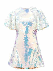 Pleats Please Issey Miyake - Single Breasted Pleated Coat - Womens - Pink
