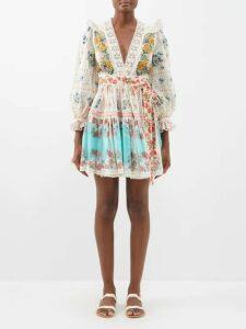 Wales Bonner - Floral Jacquard Cotton Blend Polo Shirt - Womens - Red Multi