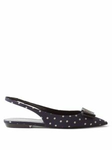 Wales Bonner - Striped Cotton And Silk Blend Shirt - Womens - Blue White