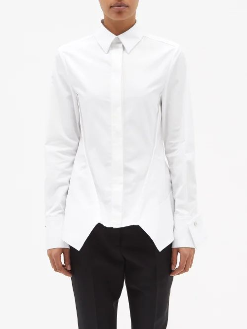 Vika Gazinskaya - Floral Print Silk Satin Dress - Womens - Black Multi