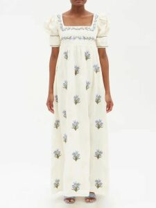 Giuliva Heritage Collection - Dorothea Double Breasted Wool Blazer - Womens - Ivory