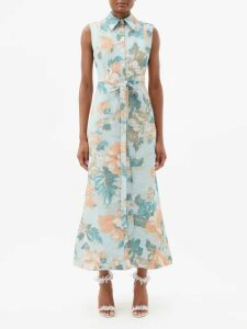 Raey - Elasticated Waist Tinsel Midi Skirt - Womens - Black