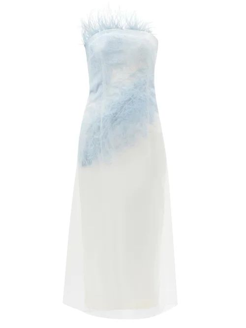 Raey - Elasticated Waist Tinsel Midi Skirt - Womens - Pink