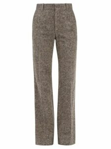 Muuñ - Charlotte Canvas And Woven Grass Bag - Womens - Red