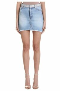 Alexandre Vauthier Crystal Belt Denim Skirt