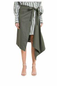 MONSE Asymmetric Apron Wrap Skirt