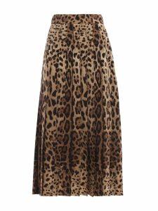 Dolce & Gabbana Leopard Maxi Skirt