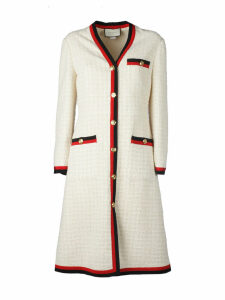 Gucci Web-trimmed Tweed Dress