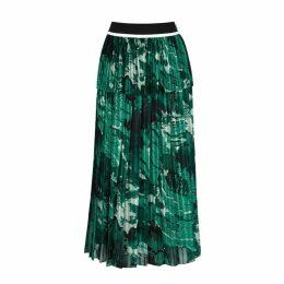 Victoria, Victoria Beckham Printed Chiffon Midi Skirt