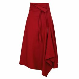 Eudon Choi Amelia Red Stretch-wool Skirt
