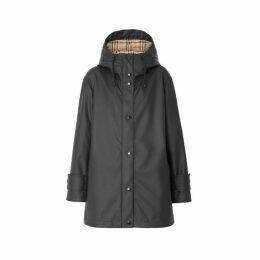 Burberry Logo Print Rubberised Hooded Coat