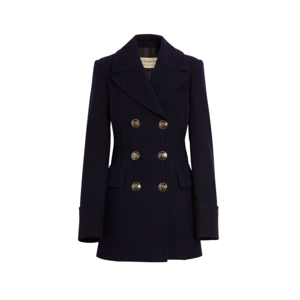 Burberry Doeskin Wool Tailored Pea Coat