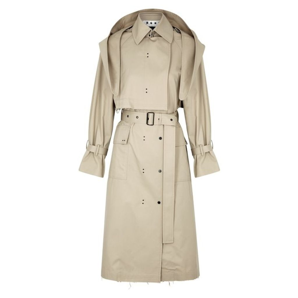 Eudon Choi Gesner Taupe Twill Coat
