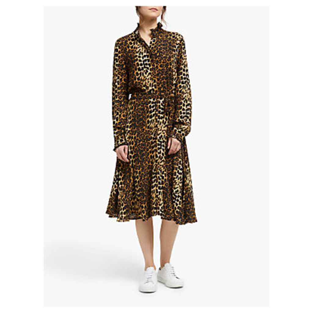 Second Female Elinor Leopard Midi Dress, Brown