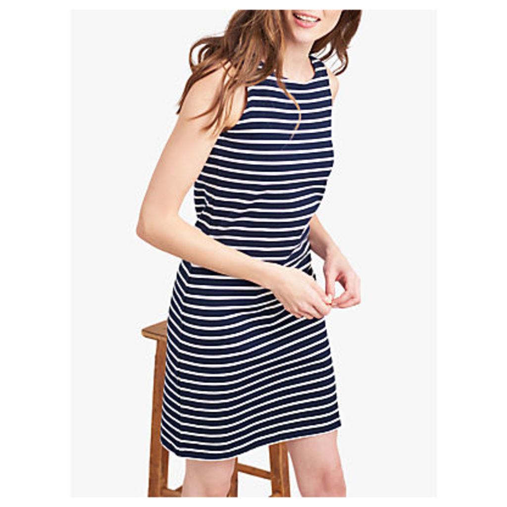 Joules Riva Stripe Dress, Navy/Cream
