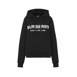 Burberry Logo Print Cotton Oversized Hoodie