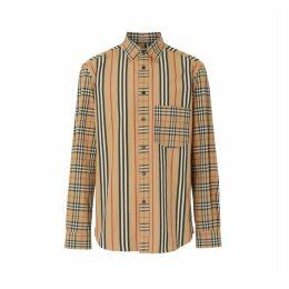Burberry Classic Fit Patchwork Cotton Poplin Shirt