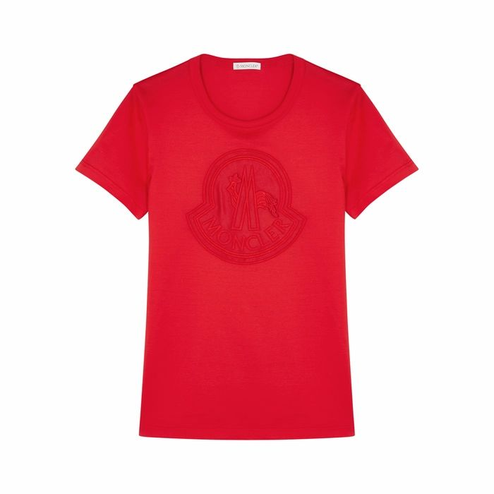 Moncler Girocollo Logo Cotton T-shirt