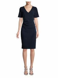 Ruched Asymmetric Sheath Dress