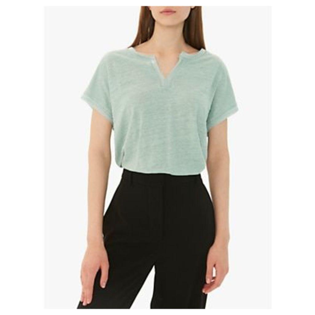 Gerard Darel Veranie Linen T-Shirt, Blue