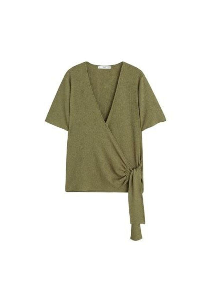 Wrap bow t-shirt