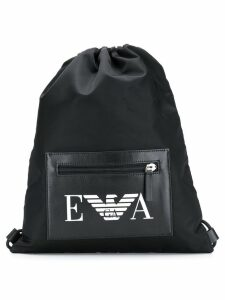 Emporio Armani branded gym bag - Black