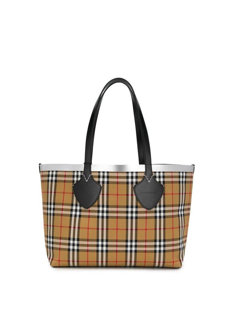 Burberry Vintage check tote bag - Brown