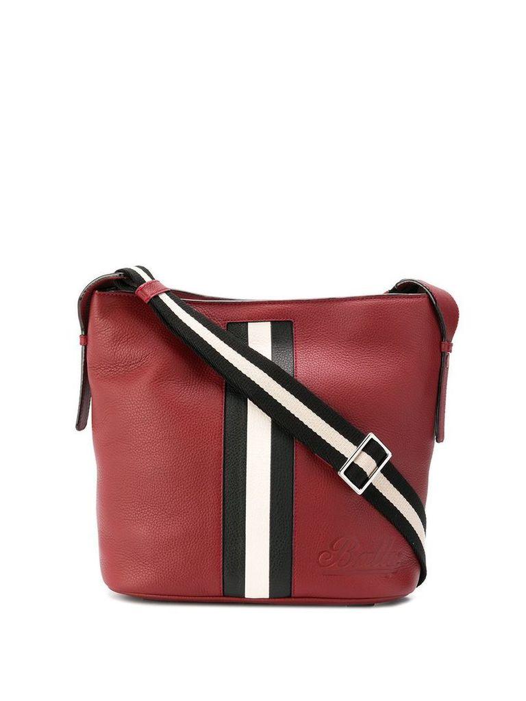 Bally Supra contrast panel shoulder bag - Red