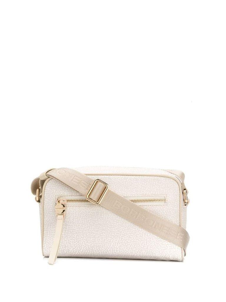 Borbonese micro-print shoulder bag - Neutrals